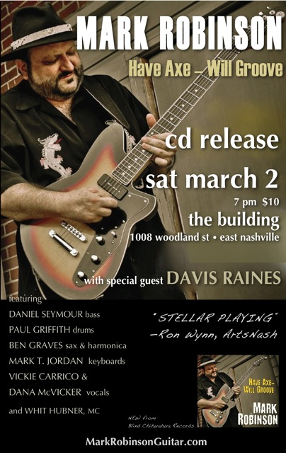 March 2 CD Release Show Poster